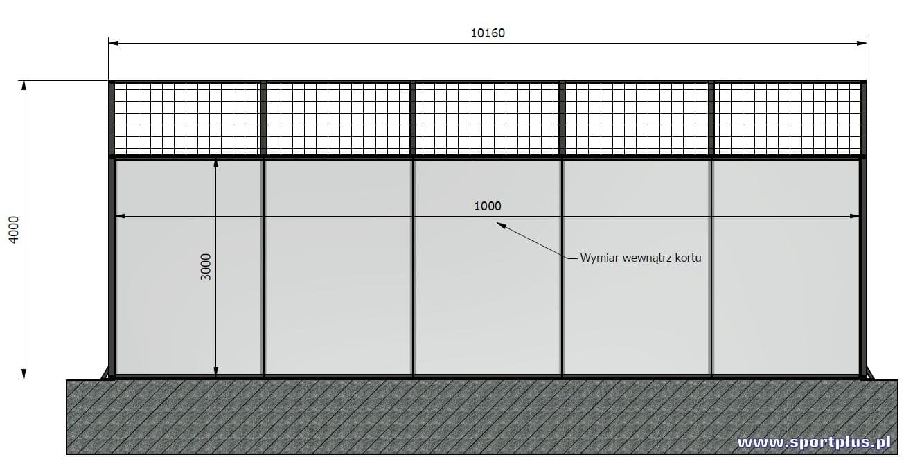 Wymiary kortu do padla | Padel court dimensions